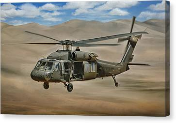 Uh-60 Blackhawk Canvas Print by Dale Jackson