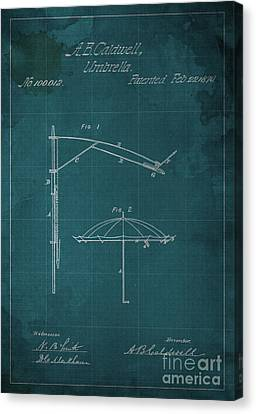 Umbrella Patent - A.b. Caldwell Canvas Print by Pablo Franchi