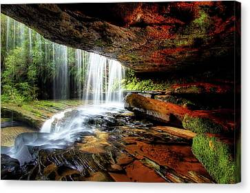 Ceiling Canvas Print - Under The Ledge by Mark Lucey