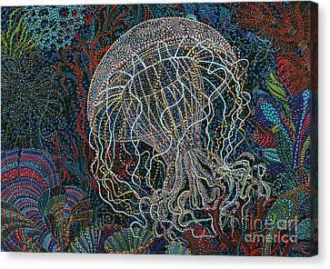 Undulating Canvas Print by Erika Pochybova
