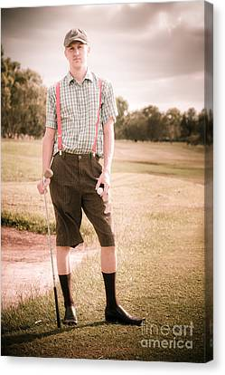 Unhappy Old Fashioned Golfer Canvas Print by Jorgo Photography - Wall Art Gallery
