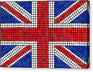 Union Jack Mosaic Canvas Print by Jane Rix
