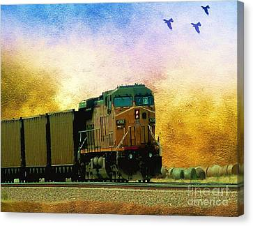 Union Pacific Coal Train Canvas Print by Janette Boyd