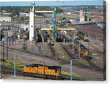 Union Pacific Railroad's Bailey Yard Canvas Print by Jim West