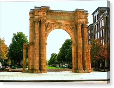 Union Station Arch Canvas Print by Laurel Talabere