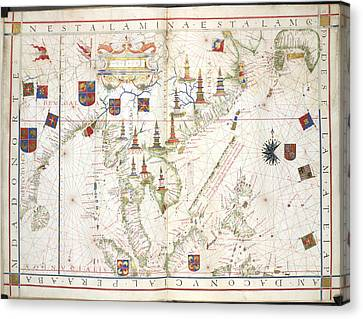 Universalis Orbis Hydrographia Canvas Print by British Library