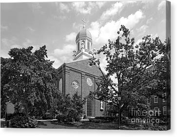 University Of Dayton Chapel Canvas Print by University Icons