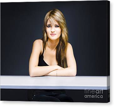 Schoolyard Canvas Print - University Student Sitting At Classroom Desk by Jorgo Photography - Wall Art Gallery