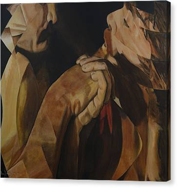 Canvas Print featuring the painting Unredeemed by Ron Richard Baviello