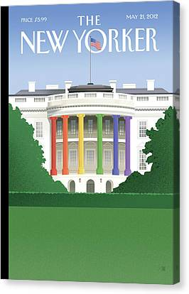 Democrats Canvas Print - New Yorker May 21st, 2012 by Bob Staake