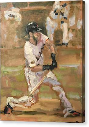 San Francisco Giants Canvas Print - Untitled by Darren Kerr