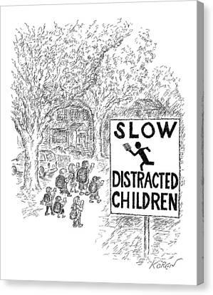 New Yorker October 17th, 2016 Canvas Print by Edward Koren