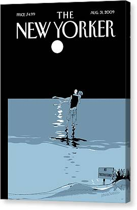 2009 Canvas Print - New Yorker August 31st, 2009 by Istvan Banyai