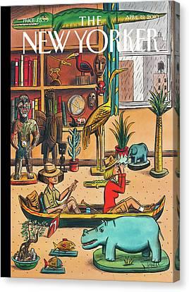New Yorker April 19th, 2010 Canvas Print by Jacques de Loustal