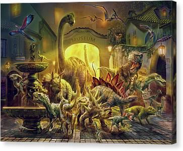 Magical Unicorn Forest Canvas Print by Jan Patrik Krasny
