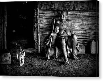 Grandmother Canvas Print - Untitled by Joxe Inazio Kuesta