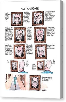 New Yorker March 13th, 2000 Canvas Print by Jules Feiffer