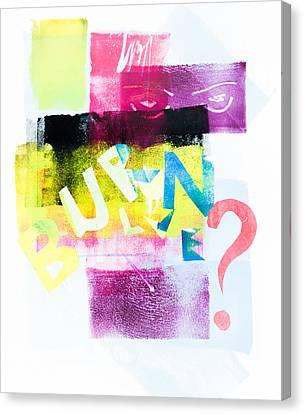 Untitled Number Twenty Eight Canvas Print by Maria  Lankina
