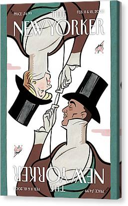 Hillary Clinton Canvas Print - New Yorker February 11th, 2008 by  Seth