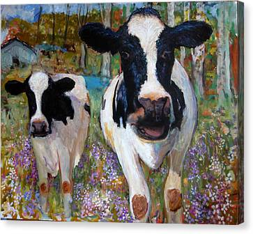 Up Front Cows Canvas Print