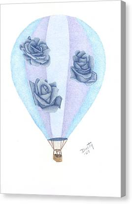 Balloon Flower Canvas Print - Up Up And Away by Dusty Reed
