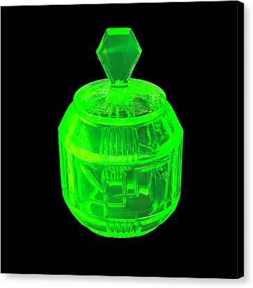 Uranium Glass Fluorescing Canvas Print