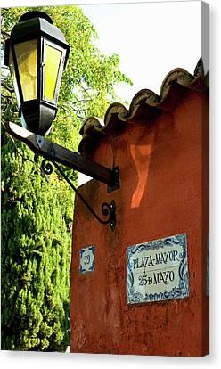 Uruguay Colonia Del Sacramento Barrio Canvas Print by Inger Hogstrom
