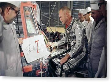 First Americans Canvas Print - Us Astronaut John Glenn by Nasa