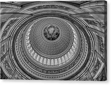 Us Capitol Rotunda Canvas Print by Susan Candelario