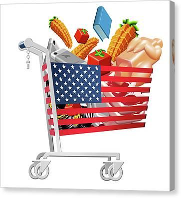 Us Inflation Index Canvas Print by Smetek
