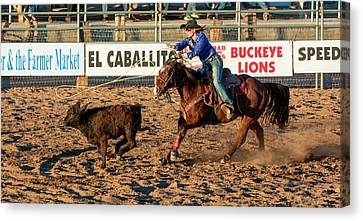 Arizona Cowgirl Canvas Print - Usa, Arizona, Buckeye, Hellzapoppin by Jaynes Gallery