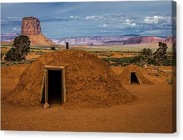 Usa, Arizona, Utah, Navajo Reservation Canvas Print by Jerry Ginsberg