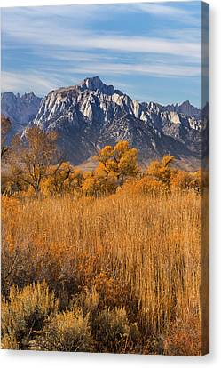 Usa, California View Of Lone Pine Peak Canvas Print by Jaynes Gallery