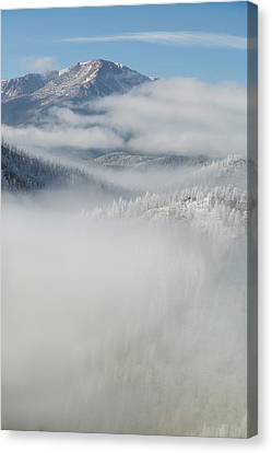 Usa, Colorado Clouds Fill The Valleys Canvas Print by Jaynes Gallery