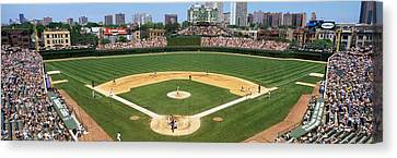 Activity Canvas Print - Usa, Illinois, Chicago, Cubs, Baseball by Panoramic Images