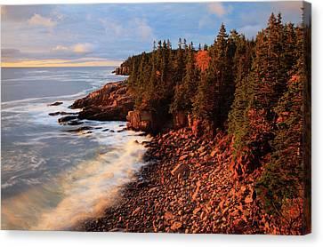 Usa, Maine, Acadia National Park, Ocean Canvas Print by Joanne Wells