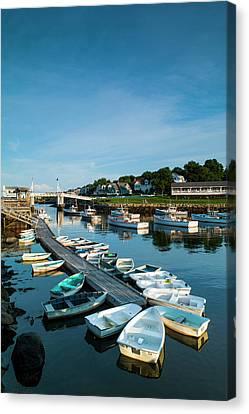 Usa, Maine, Ogunquit, Perkins Cove Canvas Print by Walter Bibikow