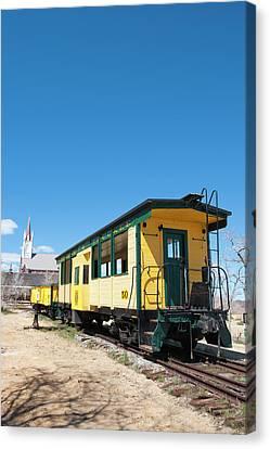 Usa, Nevada Old Steam Train Engine Canvas Print
