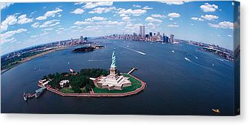 Usa, New York, Statue Of Liberty Canvas Print