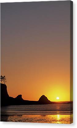 Usa, Oregon, Astoria, Sunset, Sunset Canvas Print