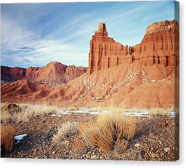 Usa, Utah, Capitol Reef National Park Canvas Print by Scott T. Smith