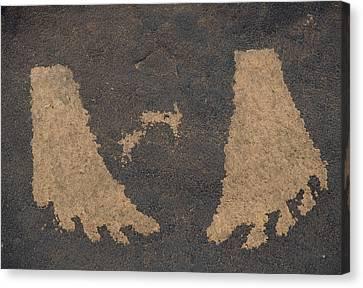 Usa, Utah, Petroglyphs, Sandstone Canvas Print