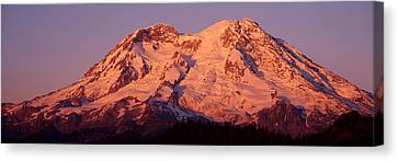 Usa, Washington, Mount Rainier National Canvas Print by Panoramic Images