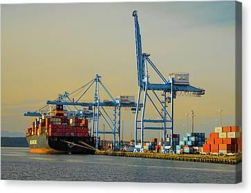 Terminal Canvas Print - Usa, Washington State, Tacoma by Charles Crust