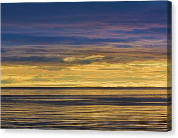 Usa, Washington Sunrise On Strait Canvas Print by Jaynes Gallery