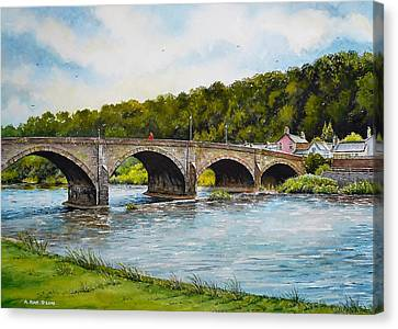 Usk Bridge Canvas Print by Andrew Read