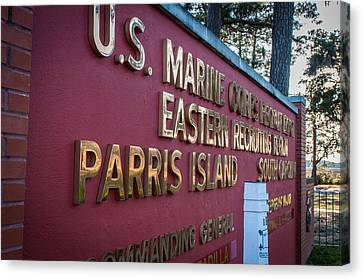 Marine Recruit Depot Canvas Print by Roger Clifford