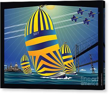 Usna High Noon Sail Canvas Print