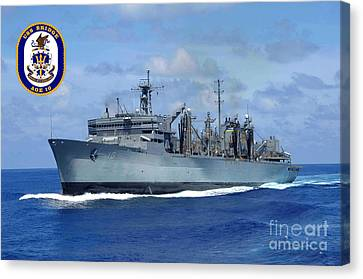 Usns Bridge Canvas Print by Baltzgar