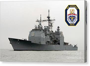 Uss Antietam Canvas Print by Baltzgar